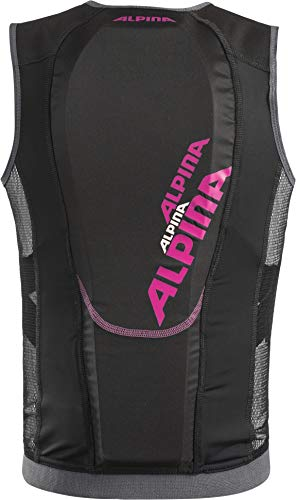 ALPINA Kinder JSP 3.0 Junior Vest Protektor, Black-pink, 116/122