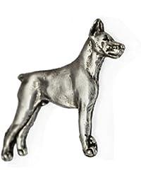 Dobermann, Silberstempel 925, Hund Anstecker, limitierte Auflage, ArtDog 05389bc267