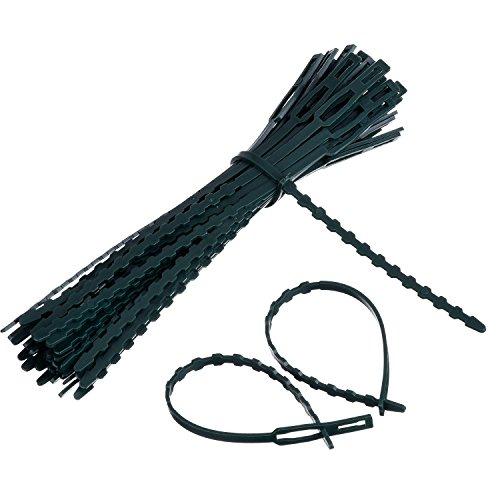 50 Packung Verstellbare Pflanze Kabelbinder Krawatte und Stütze, 170 mm x 8 mm Dunkelgrün