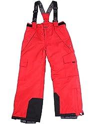 Pantalones de esquí, snowboard Pantalones Joven Chica, talla 128, 134140146152158, color rojo, tamaño 146
