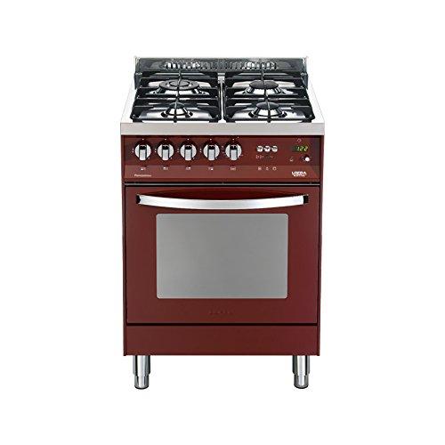 Cucina piccola a gas rosso burgundy | Grandi Sconti | Cucine ...