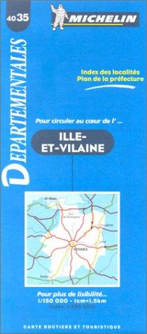 Carte routière : Ille-et-Vilaine, N°4035 par Cartes Michelin