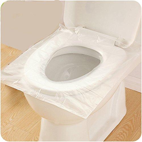 Confezione 50 pezzi, copertura igienica monouso per wc viaggio tavoletta copri impermeabile