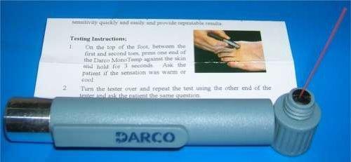 Darco MonoTemp Sensitivity Test W/ Monofilament Distal Symmetric Polyneuropathy Diagnostic Tool by Darco