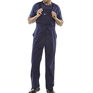 Latzhose, Weiß oder Marineblau Maler-Latzhose, aus Baumwoll-Drill Latzhose Größe M, Herren,