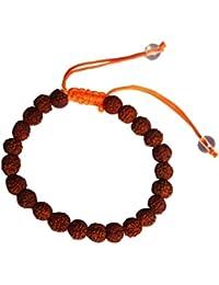 Shiva Rudraksha 100% Original Religious Rudraksh Adjustable Design Bracelet (Size:-2.6)
