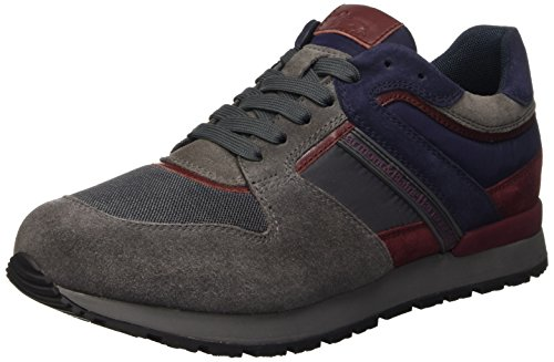 Harmont & Blaine Running, Pompes à plateforme plate homme Grigio (Carbone / Antracite)