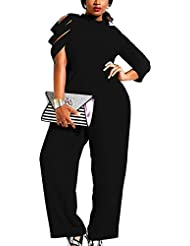 Mujer Fiesta Monos Vestir 3/4 Mangas Color Bloque Ladies Jumpsuits para Mujer Going Out