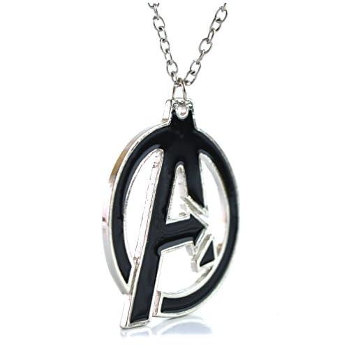 Beaux Bijoux Collar con colgante de los Vengadores de Marvel, logo de los Vengadores, collar de cosplay de superhéroe… 3