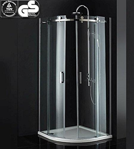 Cabine de douche 90 x 90 cm quart de cercle