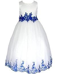 go2victoria raso & seta estito formale da ragazza vestito per matrimonio vestito da comunione vestito da damigellina 6 mesi -12 anni