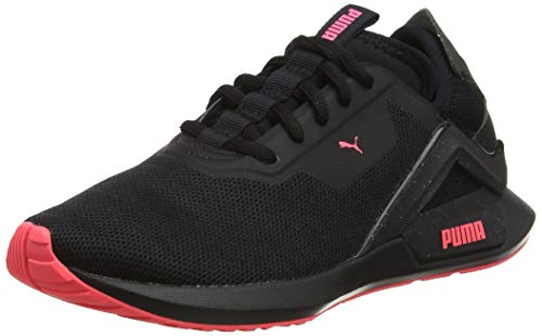 Puma Damen Rogue X Knit Wns Laufschuhe, Black-Pink Alert, 42 EU