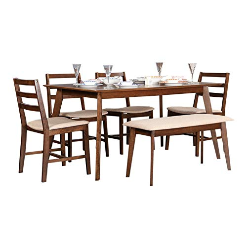 Hometown Zina 6 Seater Dining Table Set With Bench Light