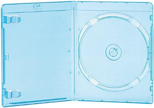 Unbekannt PEARL Leerhüllen: Blu-ray Slim-Soft-Hüllen blau-transparent im 10er-Pack für je 1 Disc (Blurayhülle)