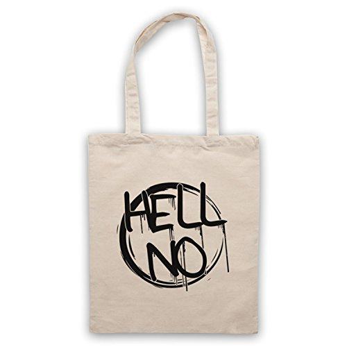 Hell No Slogan Umhangetaschen Naturlich
