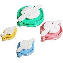 Curtzy Herramienta Hacer Pompones 8 Piezas de Plástico - Telar 4 Tamaños Hacer Pompones DIY Bricolaje Kit para usar con Lana o Hilo - Mejor Set para Proyectos para Adultos o Niños