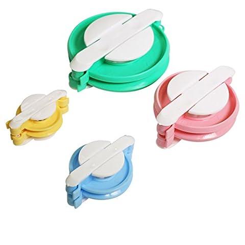 Curtzy Ens. 8 Appareils à Pompons en Plastique - Kit Pompons à Faire Soi-Même & Métiers à Tisser 4 Tailles à utiliser avec Laine ou Fil – Meilleur Kit de fabrication de pompons pour Petits et Grands - All'uncinetto Palle