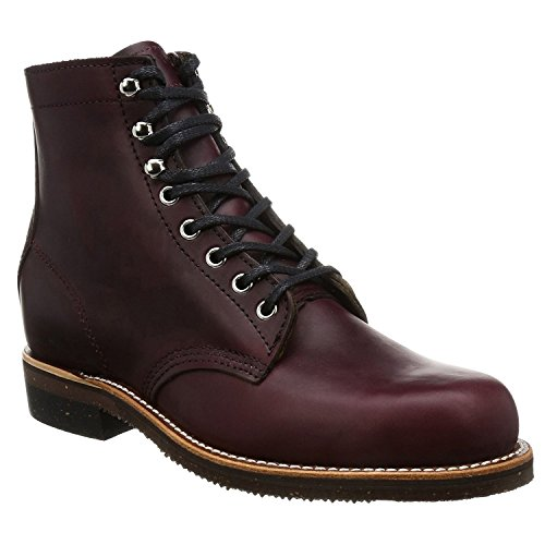 Chippewa Mens 1939 Original Service Burgundy Leather Boots 44.5 EU Chippewa Service Stiefel Männer