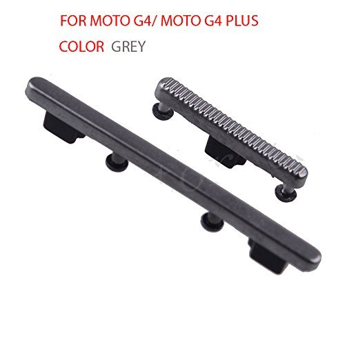 Anonymous Side Power On Off Lock Button & Volume Key Button Replacement Part Compatible with Moto G4/Moto G4 Plus : Grey