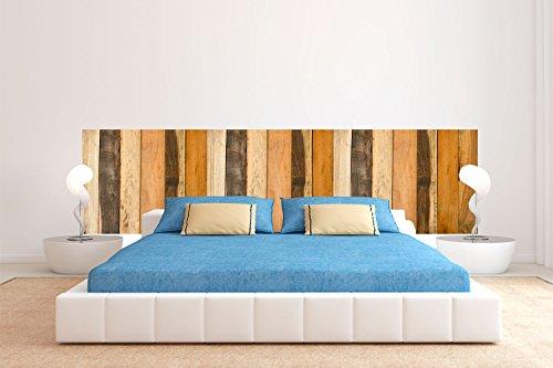 Cabecero Cama PVC Textura Antiguo Recto Vertical Madera 150x60cm | Disponible en Varias Medidas | Cabecero Ligero, Elegante, Resistente y Económico