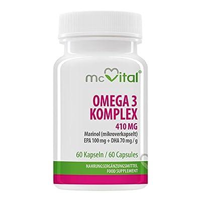 Omega 3 Komplex - 410 mg - Marinol mikroverkapselt - 60 Kapseln