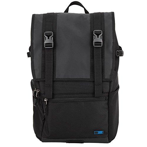 SIRUI Weekender 15 Kamerarucksack (für SLR und weitere Objektive, 15 Zoll (38,1cm) Laptop, Zubehör, wasserdichte Planenbeschichtung) schwarz