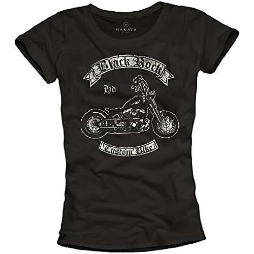 dia del orgullo friki Black Rock Moto - Camisetas moteras graciosas para mujer