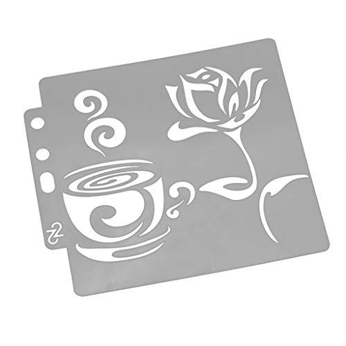 Wanfor Tee Zeichnung Schablonen Vorlage Malerei Scrapbooking Prägung DIY Alben