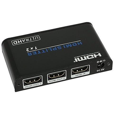 WINGONEER 1 entrée 2 sorties Splitter HDMI Version 2.0 HDCP