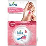 Kara Nail Polish Remover - Wipes, Rose, 30 Wipes
