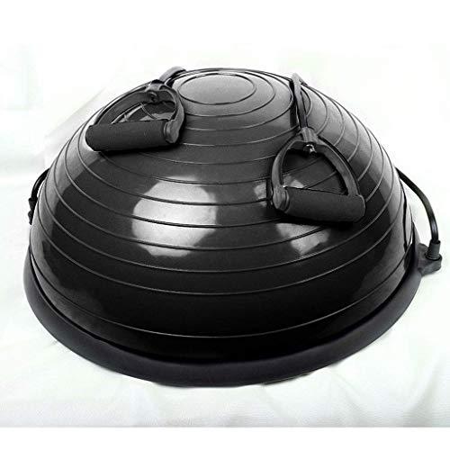 YDXYZ Yoga-Wellen-Geschwindigkeits-Ball-Halbkreis-Balancen-Ball-Hauptfitness-Trainingsgerät-explosionssichere Massage-Balancen-Übung (Color : Black)