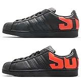 Adidas SUPERSTAR - CBLACK/CBLACK/BORANG, Größe:9