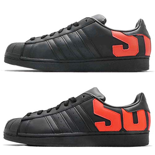 Adidas Men Sport & Style Shoes Superstar * Noir/Black / Noiesse/Orange * (44 EU)