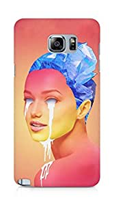 Amez designer printed 3d premium high quality back case cover for Samsung Galaxy Note 5 (Light thief Girl)