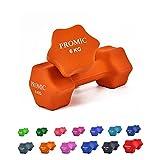 PROMIC  Neopren Hanteln Gewichte für Gymnastik Kurzhanteln- ideal für Aerobic & leichtes Fitnesstraining, 13 verschiedene Gewichte und Farben zur Auswahl (2er-Set), 2 x...