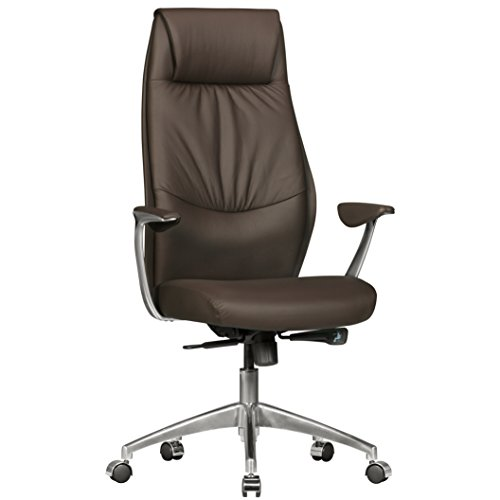 Amstyle Bürostuhl OXFORD 1 Echt-Leder Braun Design Schreibtischstuhl Armlehne Chefsessel...