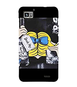 For Lenovo K860 :: Lenovo IdeaPhone K860 drink me, good quotes, man with cigrate, fluffy Designer Printed High Quality Smooth Matte Protective Mobile Case Back Pouch Cover by APEX