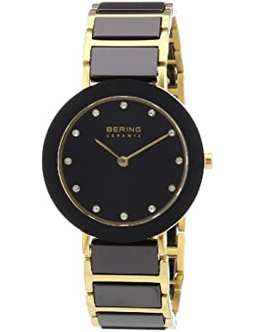 Bering Time Damen-Armbanduhr XS Ceramic Analog verschiedene Materialien 11429-741