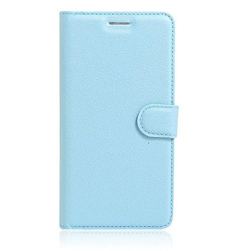 Guran® PU Leder Tasche für iPhone 7 Plus Smartphone Flip Deckung Stehen Funktion und Karte Slot Case-rose red blau