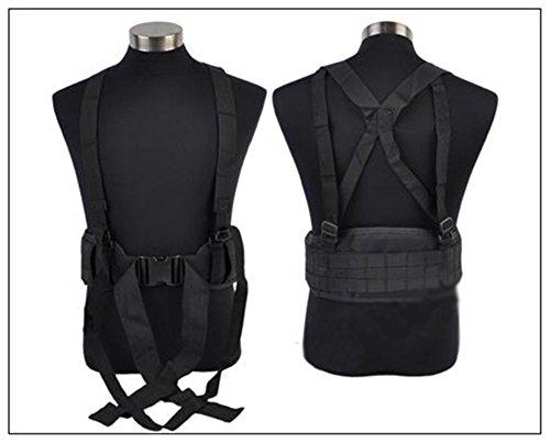 verstellbar Sicherheit Tactical Gürtel MOLLE für militärische Ausrüstung und Outdoor Sport Schwarz