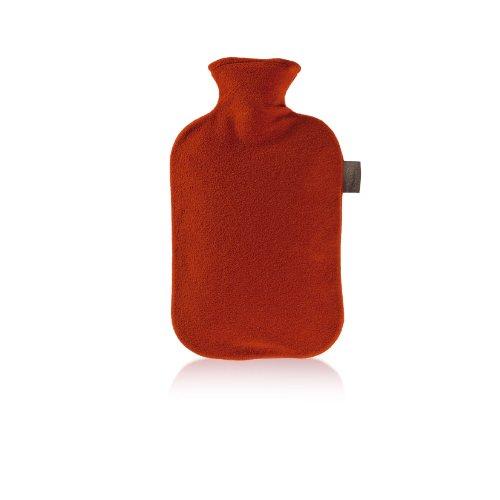 Fashy 6530 Wärmflasche mit Vliesbezug 2 L, Farbe kirschrot preisvergleich