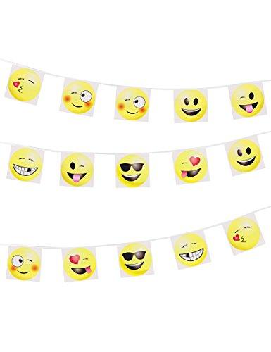 Wimpelkette Bunte Emoticons imoji 8m