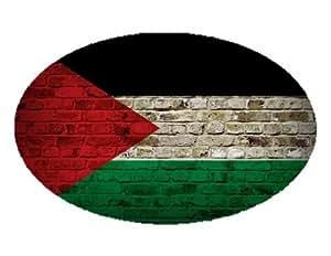 Palestine Drapeau Brique Mur Design Ovale aimant–Idéal pour l'intérieur ou l'extérieur sur véhicules