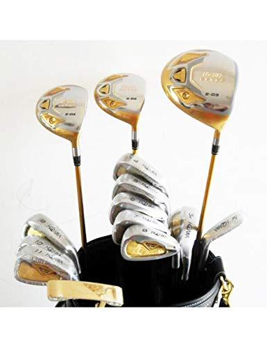 HDPP Golfschläger Herren Golfschläger S-03 Golf Kompletter Schlägersatz Fahrer + Fairwayholz + Eisen + Putter Graphitschaft Und Abdeckung -