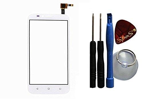Touch Screen Front Glas Display Scheibe Digitizer für Huawei Ascend Y625 in weiß + Werkzeug-Set