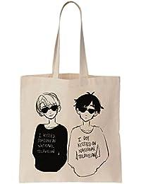 Yuri Katsuki And Victor Nikiforov Together La bolsa de asas de la lona de algodón