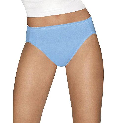 Hanes Womens Ultimate Comfort Cotton 5-Pack Hi-Cut Panties