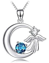 538b1a721ea0 CERSLIMO - Collar con colgante de hada de plata de ley 925 para mujer