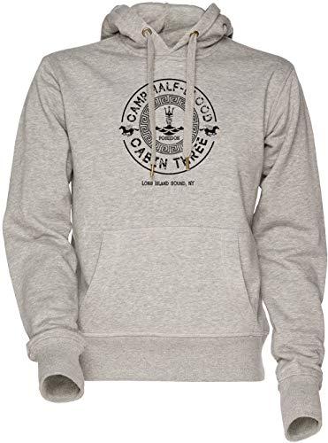 Vendax Percy Jackson - Camp Half-Blood - Cabin Three - Poseidon Unisex Herren Damen Kapuzenpullover Sweatshirt Grau Men\'s Women\'s Hoodie Grey