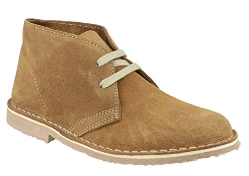 Cotswold Ladies Ashley Lace Up Leather Classic Desert Boot Brown Taupe